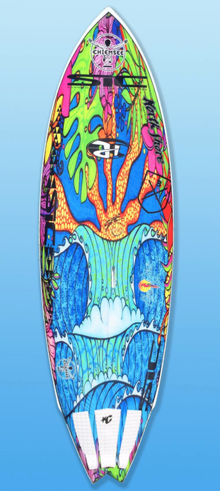 new Sup Fish 7.8 x 27 x 3 3/4 Single concave deepest under feet in surfstance, winger and Fishtail to keep the outline a bit more straight. Sonnis art inlay, which is the only opportunity to add strengh to the board with a design