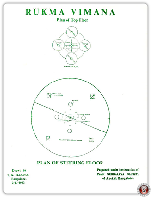 Rukma Vimana Plan of steering floor