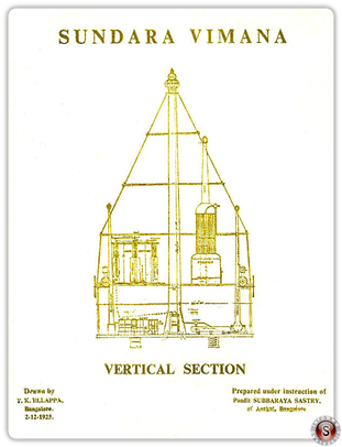 Sundara Vimana Vertical section