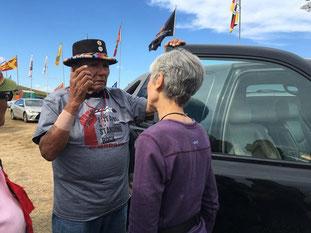 "Jill Stein aktionerer sammen med indianske aktivister imod ""Dakota Access Pipeline"""