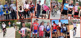 """Les 7 vainqueurs scratch de l'année: Louis, Eric (2 fois), Domi, G2J (2 fois), Yoann, Miguel et """"bibi""""----------------"""