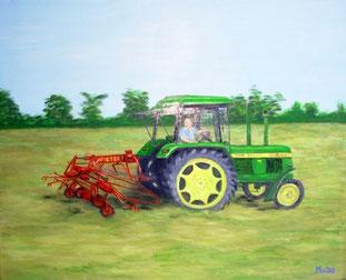 Tracteur John Deere 1640 en peinture