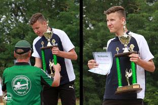 Jonas Gericke vom BSC Dessau gewann dreimal in Folge seit 2017 die Wanderpokalwertung, bei der das Ergebnis des Short Metric ins Verhältnis zum Deutschen Rekord gestellt wird. Er erreichte 127 %  vom Deutschen Rekord auf 30 und 20 m.
