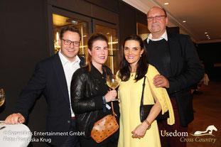 Die Geschäftsführer von XOX beim Welcome-Abend der VIPs und prominenten Gäste im Pier 14. Foto: Franziska Krug