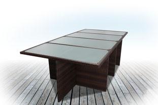 tavolo, giardino, rattan