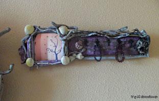 barco madera, cuadro barco, driftwood art, cuelga llaves, organizador bisutería, cuadro pintado a mano, artesanía asturiana, mandala, eco desing, diseño ecológico, decoración ecologica