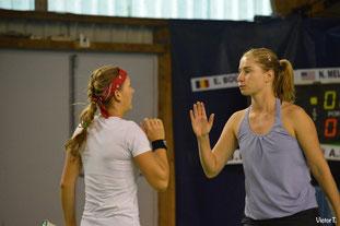 Nicole MELICHAR(USA) à gauche et Elena BOGDAN (UKR) à droite