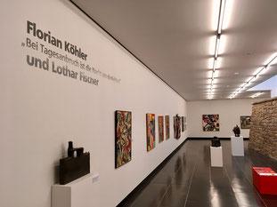 Werke von Lothar Fischer und Florian Köhler sind derzeit in einer Gemeinschaftsausstellung in der Kunsthalle Schweinfurt zu sehen.