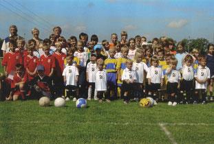 Die Zöschener Nachwuchs-Fußballer beim Sportfest 2012