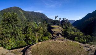 Ruinas de Ciudad Perdida, construida por los indios tayronas en la Sierra Nevada de Santa Marta, en Colombia. / ICANH
