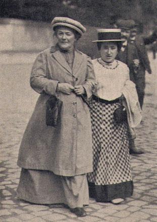 Bild: Foto:  Clara Zetkin und Rosa Luxemburg