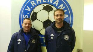 Jörg Koßek (l.) und Marcel Richter sind mit vollem Einsatz im Mädchenfußball tätig.
