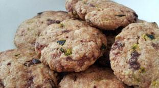 ▲南瓜と乾燥イチジク入りクッキー