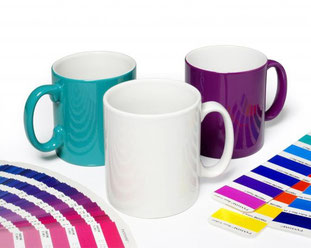 ColourCoat Pantone colour matched mugs