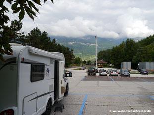 Morgendlicher Blick  auf die Alpen in Neumarkt