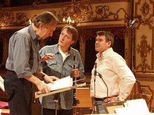 With Claudio Abbado, Albrecht Mayer - Recording of Mozart CD for Deutsche Grammphon in Reggio Emilia