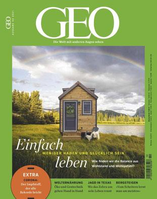 GEO Einfach leben - Weniger haben und Glücklich sein - Die besten Magazine und Zeitschriften