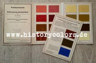 RAL Farbenkarte für Fahrzeug-Anstriche 840 B 2