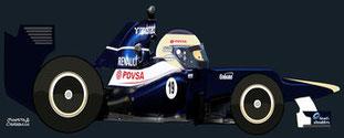Valtteri Bottas by Muneta & Cerracín - Williams FW34 - Renault V8