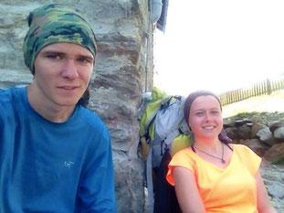 Pause Rast Braunschweiger Hütte Similaun Hütte Grenze Italien Osterreich Alpen E5 Berge Wandern