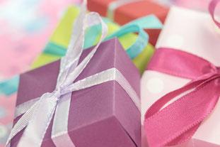 Geschenkpäckchen für die Feiertage