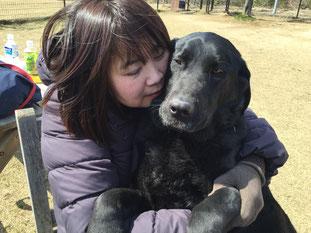 妹と妹の愛犬ラブ