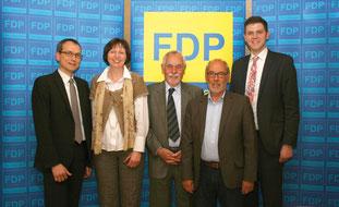 v.l.n.r. Steffen Hentrich, Evelyn Dahlke, Prof. Dr. Karl-Friedrich Ewert, Hubert Möller, Patrick Büker