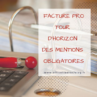 factures, mentions obligatoires