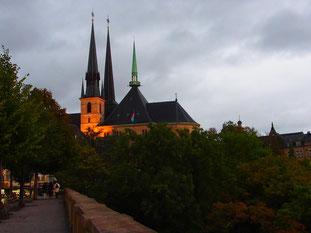 Blick auf die katholische Kirche Saint Alphonso