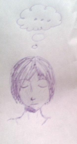 """Zeichnung eines Besuchers (oder Besucherin) auf dem """"Protokoll"""" Vielen Dank dafür!"""
