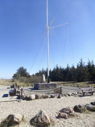 Bild: Das Niobe Denkmal am Gammendorfer Strand im Norden von Fehmarn