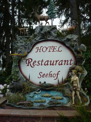 Bild: Hotel Restaurant Seehof - Schild