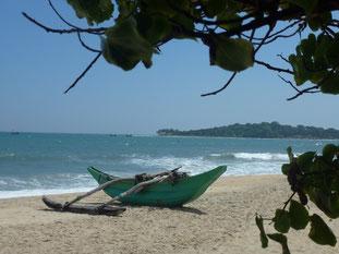Bild: Boot am Strand