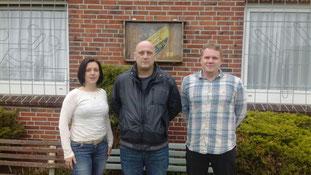 v.l.n.r.: Anne Ignatzek (1. Vorsitzende), Karsten Golnik und Christian Ackmann (Fußballobmann)