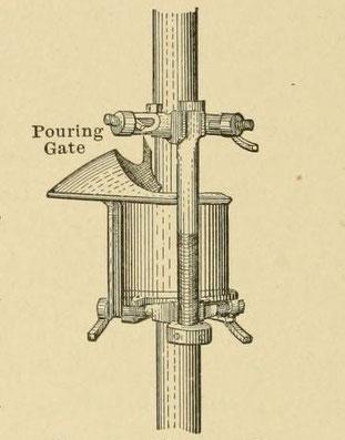 Abb. 76. — Klemmen und Gussform zum Thermitschweißen vertikaler Rohre