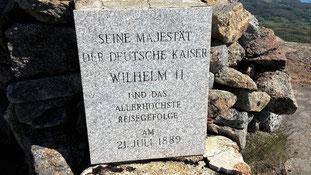 Gedenktafel auf dem Digermulenkollen...Kaiservarden