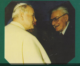 Angelo Stefanucci dal Papa Giovanni Paolo II