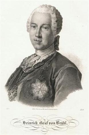 Heinrich Graf von Brühl (1700–1763).