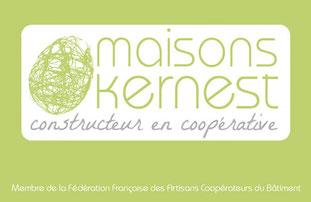 logo maisons kernest vert en forme de cocon