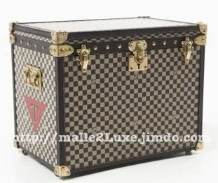 2012 Checked hat mini-trunk Louis vuitton