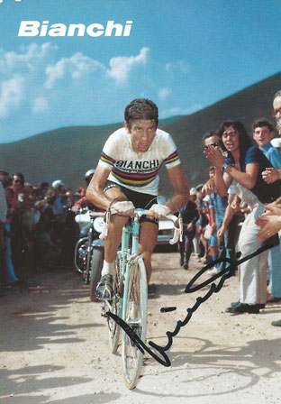 Cycling Autograph by Felice Gimondi