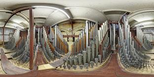 Intérieur de l'orgue de la cathédrale de St BAVO - HAARLEM - Pays-Bas
