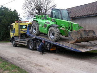 Transports d'engins TP