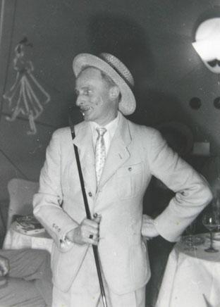 Albert Briel beim Fasching 1960er Theatercafe