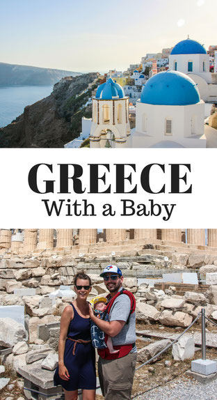 Travelling to Greece with a baby. This guide covers everything you need to know for taking your baby to Greece. It includes info on Santorini, Mykonos, Athens, Naxos, Delphi and Meteora! Read more at www.BabyCanTravel.com/blog