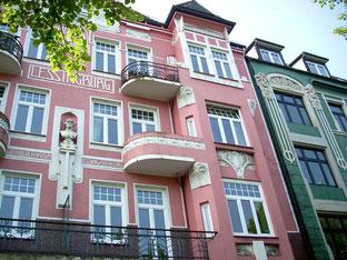 Schöne Häuserfassade in Hamburg-Altona