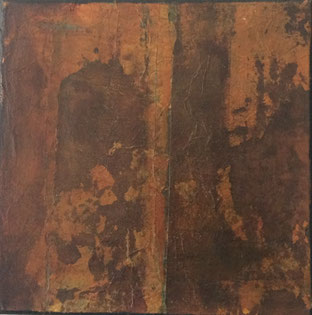 Leinwand, 30 x 30 cm, Monotypie - Christiana Sieben