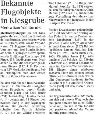 Artikel - 3. Heidewaldturnier in Merkwitz 2006 - BSV Merkwitz