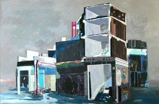 Bauruine,2008, Öl auf Leinwand, 200 x 300 cm