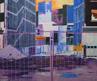 Baustelle, 2008, Öl auf Leinwand, 200 x 240 cm